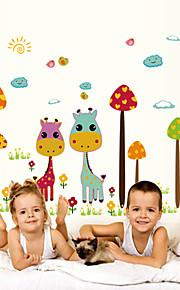 벽 스티커 벽 데칼 스타일 만화 사슴 PVC 벽 스티커