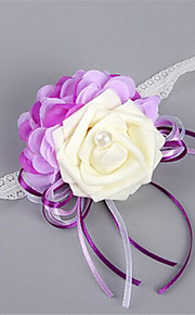 Purple  Wedding/Party Wrist Corsages for the Bridesmaid(8*9cm)