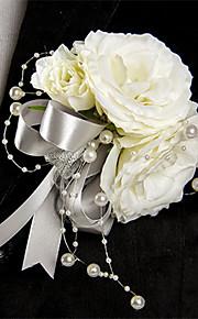Silver & White Camellia Wedding/Party Boutonniere (12*12cm)