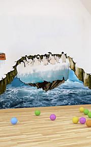 Adesivi 3d pinguino artico decalcomanie adesivi murali della parete del PVC
