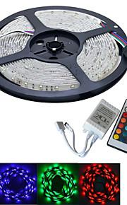 JIAWEN® 5 M 300 3528 SMD Rouge Vert Bleu Découpable / Connectible 25 W Bandes Lumineuses LED Flexibles DC12 V