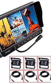 renepai® 7 inch 4 in1 hd-monitor + bus hd auto achteruitrijcamera waterdichte camera kabellengte 16m, 20m 9V ~ 36V
