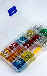 120pcs 5a / 10a / 15a / 20a / 25a / 30a fusibles de cuchilla set de fusibles del coche para vehículo - Tamaño M + tamaño s