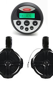 waterdichte marifoon stereo atv utv audio-ontvanger + 1 paar 6.5 inch high-power overhandigen Waterproff speakers