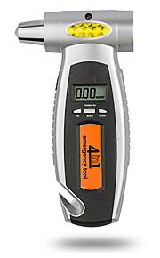 dearroad 4 i 1 multifunktionelle digital lcd bildæk gauge dæk trykmåler bil nødsituation hammer og nødbelysning