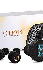 carchet TPMS dæktryk overvågningssystem + 4 eksterne sensorer cigarettænder