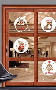 Window Stickers Window Decals Style Christmas Gift Snowman Window Glass Decoration PVC Window Stickers