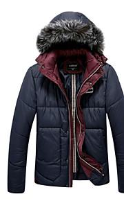 男性用 長袖 レギュラー コート , ポリエステル プレイン