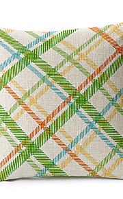 Colorful Geometric Cotton/Linen Decorative Pillow Cover