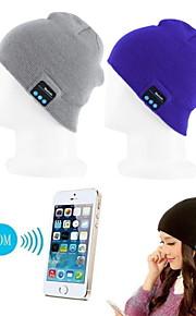 cálido gorro inalámbrica bluetooth tapa de la música auriculares auricular micrófono altavoz scw