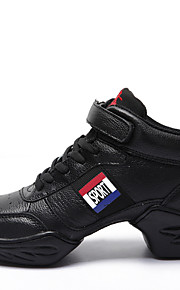 Women's Dance Shoes Jazz/Dance Sneakers/Modern/Flamengo First layer of Leather Chunky Heel