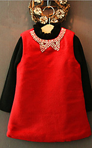 Girl's Red Dress , Bow Others Winter / Fall