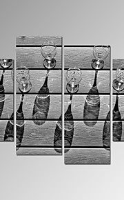 Fritid / Landskap / Fotografisk / Patriotisk / Modern / Romantik Canvastryck Fyra paneler Redo att hänga , Vertikal