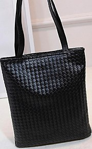 Women PU Shopper Shoulder Bag - White / Gold / Silver / Gray / Black