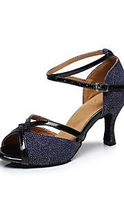 Zapatos de baile ( Azul / Verde ) - Danza latina - No Personalizable - Tacón Luis XV