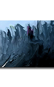 marina pintura al óleo abstracta recentage bosque azul texturizado