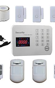 inbreker stem lcd gsm alarmsystemen android voor de veiligheid binnenlandse veiligheid met 120 draadloze&2 bekabelde alarma zones