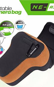 neopine a7-2 blød kamera inderste beskyttende trekant taske med karabinhage til Sony A7 ii / A7 / a7r, til Olympus EM1