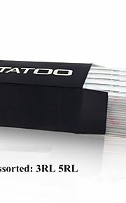 ITATOO® 100pcs New Assorted Professional Round Liner Tattoo Needles
