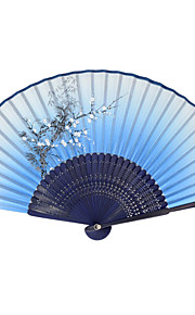Silk Fans and parasols - 1 Piece/Set Hand Fans Garden Theme / Asian Theme / Floral Theme / Butterfly Theme Lilac / Blue