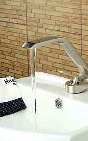 American Standard Centerset Single Handle One Hole in Nickel Brushed Bathroom Sink Faucet