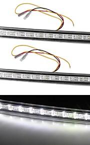 2 * wit 12 LED DRL auto-auto vrachtwagen dagrijverlichting richtingaanwijzer 5w