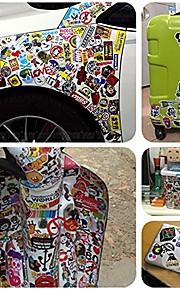 50 stk / pakke tilfældige klistermærker bil styling funny bil mærkat doodle motorcykel cykel rejse doodle