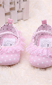 Girls' Shoes Outdoor / Dress / Casual Leatherette Boots Spring / Fall Comfort / Round Toe Flat Heel Polka Dot / Gore Pink