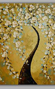 Håndmalte Blomstret/BotaniskModerne Et Panel Lerret Hang malte oljemaleri For Hjem Dekor