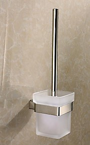 Toilet Brush Holder,Contemporary Mirror Polished Finish Stainless Steel Material,Bathroom Accessory