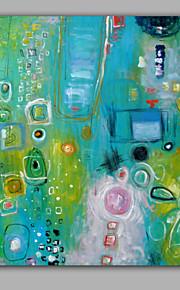 färgglada mönster för abstrakt målning på duk inramad redo att hänga