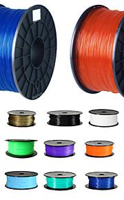 High Quality 16 Colours 3D Printer Filaments plastic Rubber Consumables Material 1.75/3mm ABS / PLA Optional 1Kg