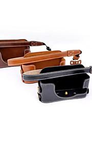 dengpin pu læder halv kamerataske taske cover base for Sony DSC-rx1r RX1 (assorterede farver)