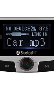 FM transmitter med 206 frekvenser / Bluetooth 2.0 / bil oplader