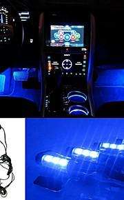 ziqiao 3LED auto te berekenen 12v 4w gloed interieur decoratieve 4in1 atmosfeer blauw licht lamp sfeer binnenkant voet lamp