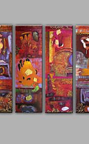 Håndmalte fantasi Middelhavet Olje Maleri,Lerret Fire Paneler