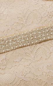 Satin Mariage / Fête/Soirée / Quotidien Ceinture-Billes / Perles / Cristal / Broderie Femme 250cm Billes / Perles / Cristal / Broderie