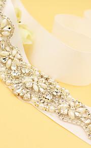 Satin Mariage / Fête/Soirée Ceinture-Strass / Imitation de perle Femme 180cm Strass / Imitation de perle