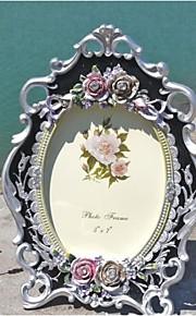 Cadre photo ( Rose / Argent , Moins de 10 ) - Thème floral / Thème classique