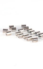 iztoss 25 stuks snel snel klap 250v 0,5 / 1/2/3/5/10/15/20/25 / 30a glazen buis zekeringen 6x30mm met zekering puller