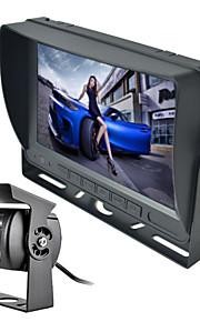 """renepai® 7 """"farve TFT LCD-skærm bil bagfra backup parkering spejl skærm + nattesyn kamera bil sikkerhed værktøjskasse"""
