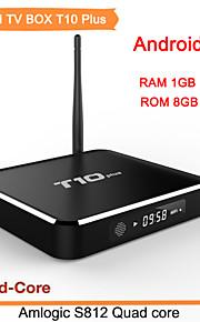 wifi tv set-top boks Kodi fuld HD 1080p bluetooth 4,0 quad core cortex a9 Smart TV box t10 plus 2g / 8g android 5,1 tv box