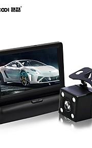 "voudige 4,3 ""lcd auto parking sensor-monitor + backup omkeren cam auto achteruitrijcamera"