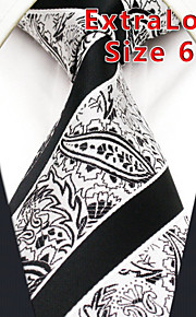 Men's Tie Gray  Paisley  100% Silk Business  Dress Casual Long