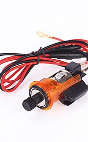verlichte auto 12V sigarettenaansteker auto oranje aansteker adapter contactdoos stekker stopcontact kunt roken voor Peugeot 405 505