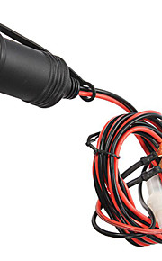 """12v auto motorfiets boot waterdicht vrouwelijke sigarettenaansteker stekker met 180cm / 70.85 """"fuse connector wire"""