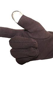 Guantes Ciclismo / Bicicleta Hombres Dedos completos A prueba de resbalones / Mantiene abrigado / Guantes Táctiles Otoño / InviernoCafé /