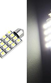 42mm 16 smd LED witte auto koepel slinger interieur lamp (2 stuks)