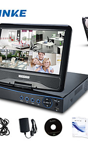 "Annke® 10.1"" LCD 4CH AHD 720P  DVR NVR HVR Network CCTV Surveillance Video 8 Channel for AHD Camera with 1TB HDD"