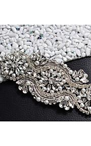 Satin Mariage / Fête/Soirée / Quotidien Ceinture-Billes / Perles / Cristal / Strass Femme Billes / Perles / Cristal / Strass
